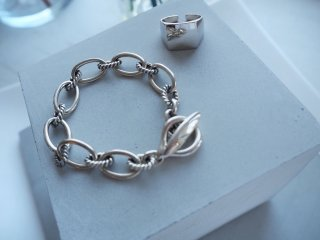 mille / silver chainブレスレット