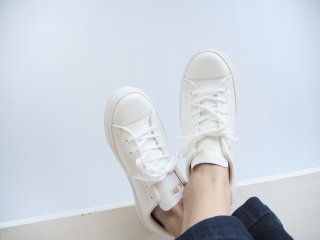 LEATHER ALL STAR COUPE OX ホワイト