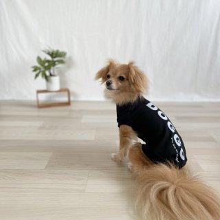 【大人気】DOGGO/犬用Tシャツ(ディープブラック)/ペアルック可