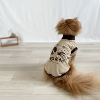 Dogs Rule!/犬用Tシャツ(サンドベージュ)/ペアルック可