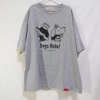 Dogs Rule!/ビッグシルエットTシャツ(ミックスグレー)/愛犬とペアルック可