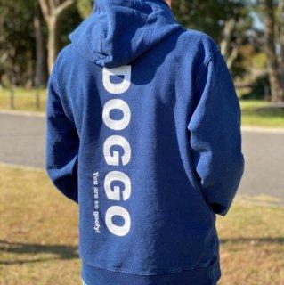 DOGGO/インディゴパーカー(ワンウォッシュ)/愛犬とペアルック可