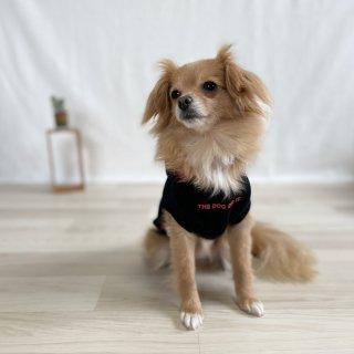 THE DOG DOD IT./犬用パーカー(ブラック×レッド)/飼い主とペアルック可/4,500円〜