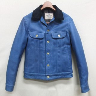 HORSE HIDE Indigo mixed Aniline finish RIDERS JACKET SIZE:38,40,42