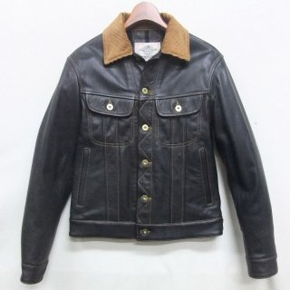 COW HIDE Chrome tanning Aniline finish RIDERS JACKET SIZE:38/Last one