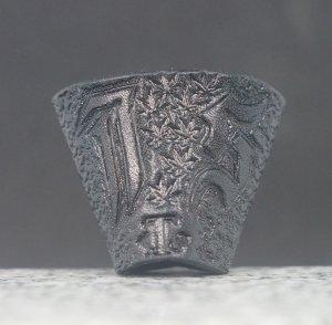 タイストラップ carving(彫刻) シリーズ ゴシック体アルファベット・イニシャル(オーダーメイド=受注製作) 黒 3点セット価格