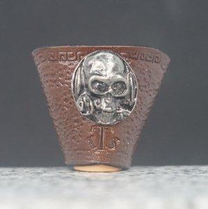 タイストラップ metal fitting スカル こげ茶 3点セット価格