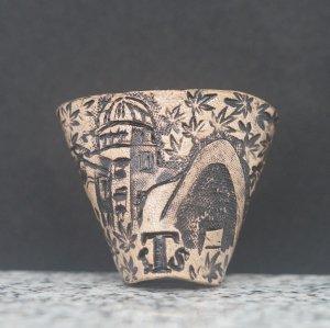 タイストラップ carving(彫刻)シリーズ 忘れてはいけない歴史(2) ナチュラル 3点セット価格