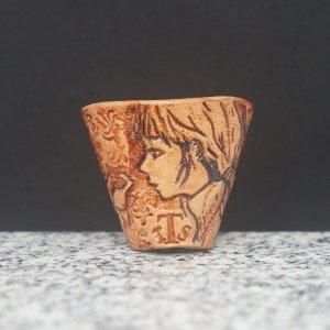 タイストラップ carving(彫刻)シリーズ 花と少女(1) ナチュラル 3点セット価格