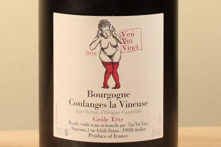Bourgogne Coulanges la Vineuse - Grole Tete 2016 ブルゴーニュ・クランジュ・ラ・ヴィヌーズ グロール・テット