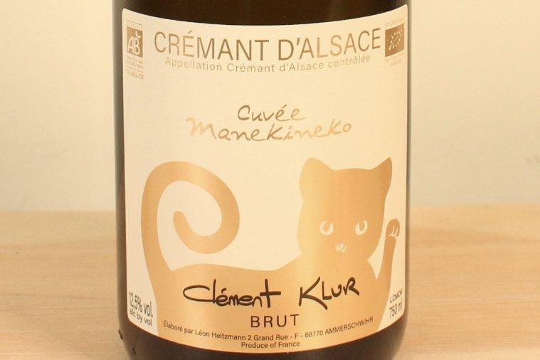 Crémant d'Alsace Brut Cuvée Manekineko クレマン・ダルザス ブリュット キュヴェ・マネキネコ