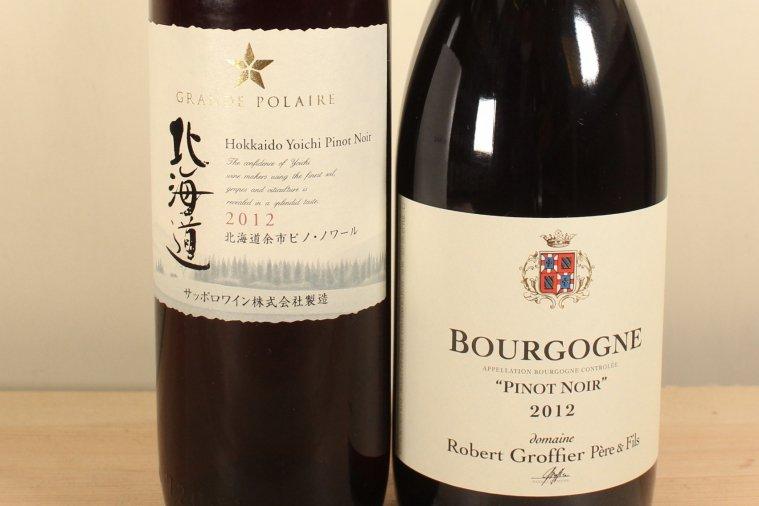 Bourgogne Rouge ブルゴーニュ ルージュ、北海道余市ピノノワール 2012  特別セット