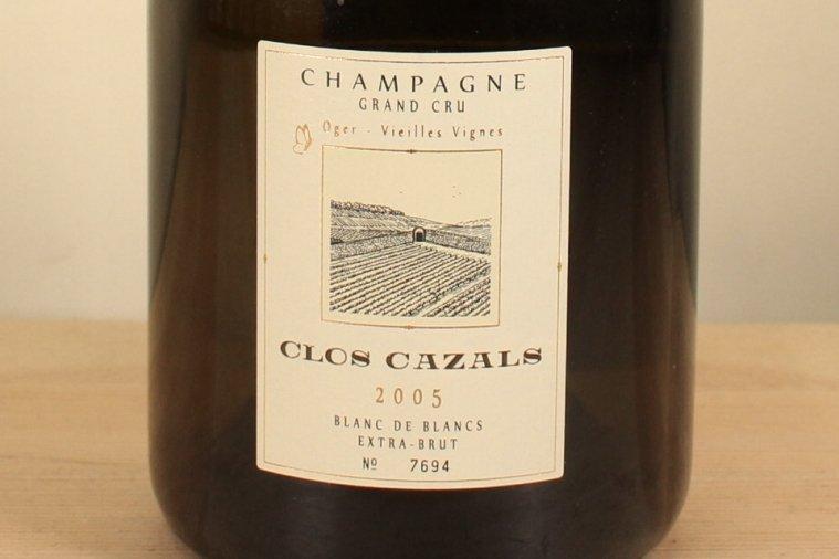 CLOS CAZALS EXTRA BRUT BLANC DE BLANCS クロ・カザル・エクストラ・ブリュット・ブラン・ド・ブラン2005