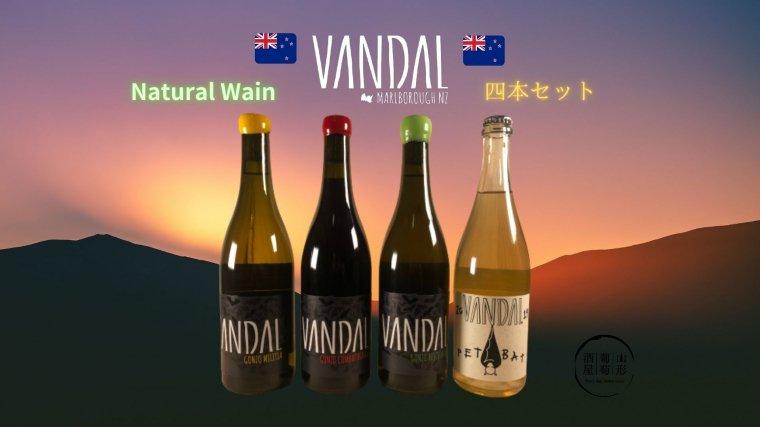 自然派ワイン VANDAL/ヴァンダル 4本セット(白2、赤1、白泡1)