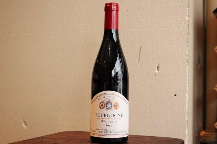 ブルゴーニュ・ピノ ノワール2019/ Bourgogne Pinot Noir2019
