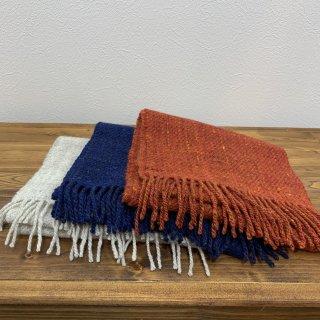 【HOMSPUN】ホームスパン マフラー  岩手県郷土工芸品 手織り 手紡ぎ ハンドメイド