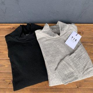 【TIE】 High neck long sleeve Tee  タイ ハイネックロングTシャツ 天竺