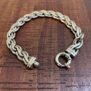 <img class='new_mark_img1' src='https://img.shop-pro.jp/img/new/icons20.gif' style='border:none;display:inline;margin:0px;padding:0px;width:auto;' />【VINTAGE SILVER】 BRITISH VINTAGE SILVER BRACELET SILVER925