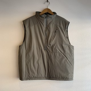 【MILITARY DEADSTOCK】 PCU LEVEL7 HALF ZIP PRIMALOFT VEST 未染め