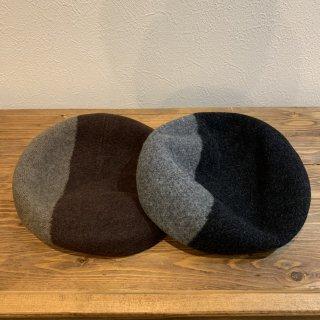 【DECHO】 BASQUE BERET  デコー ベレー帽 ツートーン