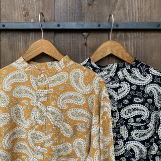 <img class='new_mark_img1' src='https://img.shop-pro.jp/img/new/icons47.gif' style='border:none;display:inline;margin:0px;padding:0px;width:auto;' />【SUNNY SPORTS】 90's Stand Paisley Shirts サニースポーツ スタンド ペイズリー シャツ