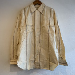 <img class='new_mark_img1' src='https://img.shop-pro.jp/img/new/icons5.gif' style='border:none;display:inline;margin:0px;padding:0px;width:auto;' />【MILITARY DEADSTOCK】60s ITALIAN ARMY PRISONER SHIRT プリズナーシャツ デッドストック