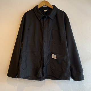 <img class='new_mark_img1' src='https://img.shop-pro.jp/img/new/icons5.gif' style='border:none;display:inline;margin:0px;padding:0px;width:auto;' />【MILITARY DEADSTOCK】 70s FRENCH WORK JACKET MOLESKIN BLACK