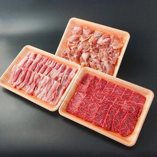 【焼肉セット】九州産黒毛和牛カルビと佐賀県産豚鶏 1,500g