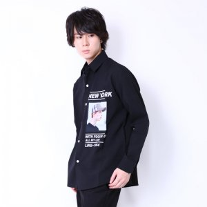 <img class='new_mark_img1' src='https://img.shop-pro.jp/img/new/icons20.gif' style='border:none;display:inline;margin:0px;padding:0px;width:auto;' />【50%OFF】N.Yフォト長袖シャツ