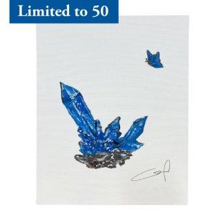 【LIMITED】HAN GI CHAN DESIGN ART PANEL<BLUE MORPHO>ver.D with SERIAL NO.