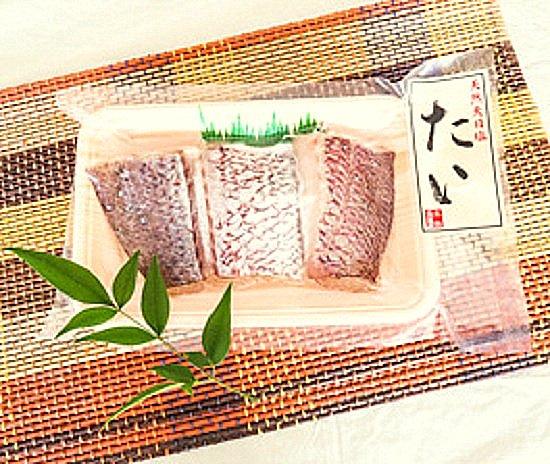 鯛の塩干し(3〜4切)【冷凍】
