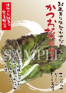 あったかいが かつお菜 絵ハガキサイズ【B021A】
