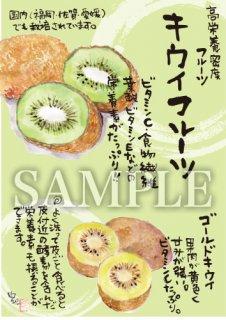 あったかいが キウイフルーツ 絵ハガキサイズ【B023A】