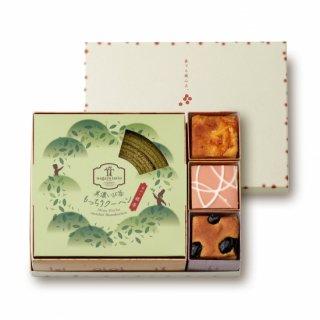 美濃いび茶もっちりクーヘン[抹茶]&奏でる積み木3個セット