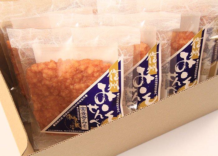 信州みそせんべい(揚げ煎餅)6枚箱入り
