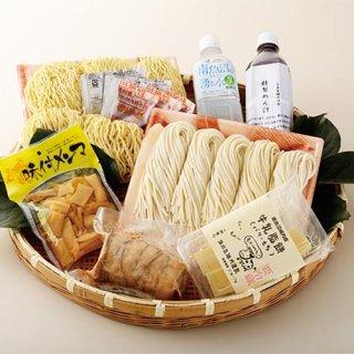 魚沼産コシヒカリ粉うどん&ラーメン&魚沼バター餅セット|笠原製麺所