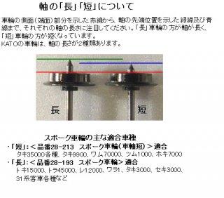 28-213 スポーク車輪 車軸短 (1個)