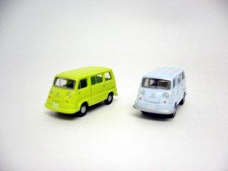 カーコレ09 スバルサンバーライトバン (ブルー+グリーン)