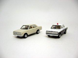 カーコレ10 日産セドリック (白+パトカー)