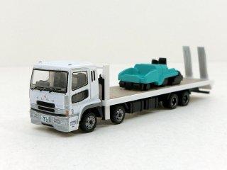 131 三菱ふそうスーパーグレート 重機運搬車(アスファルトフィニッシャ)