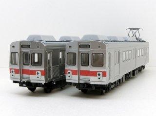 【HO】 天賞堂T-Evolution 65011 東急7200系 冷房車 2両セット (赤帯・前面ステップ付)