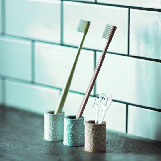 soil トゥースブラシスタンドミニ/珪藻土 歯ブラシ スタンド