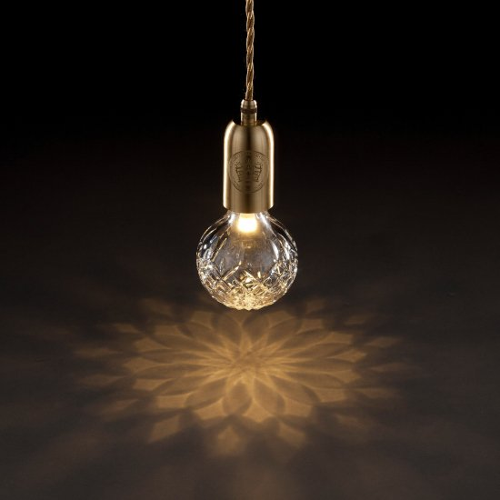 LEE BROOM CLEAR CRYSTAL BULB PENDANT