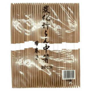 スス竹らんちゅう箸 帯付 26cm 100膳入