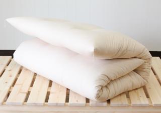 プレミアム・オーガニックコットン茶綿/シングル敷き布団 中綿4.2kg 薄めタイプ