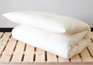 ナチュラルコットン100%/シングル敷き布団 中綿7.5� 厚めタイプ