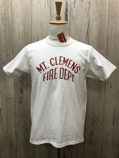 リアルマッコイズ MC20023 MLK MT.CLEMENS FIRE DEPT. プリントTee JOE McCOY