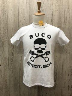 リアルマッコイズ/BUCO BC18005  BUCODETROIT, MICH. スカル ブコTee  THE REAL McCOY'S