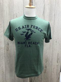 ウエアハウス 4601 マイアミビーチ U.S.A.F MIAMI BEACH  GRN 半袖プリントT  WAREHOUSE