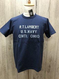 リアルマッコイズ MC19019 R.T. LAMBERT U.S.NAVY 半袖ミリタリーT  REAL McCOYS
